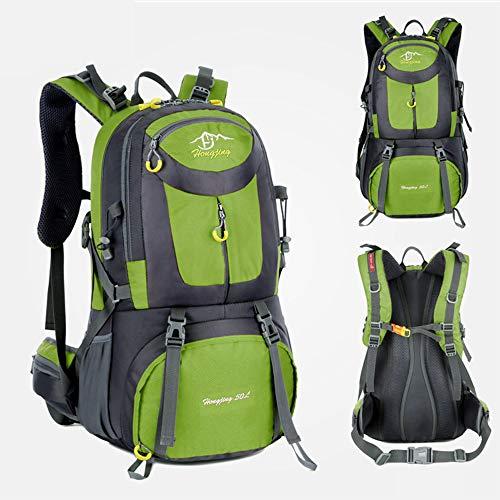 ZENING Backpack Mountaineering Backpack Travel Bag Practical Portable Durable Rucksack One Strap Shoulder Blanket Roll Hiking Waterproof Nylon Cotton 40L