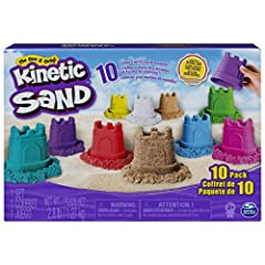 10 COLORS OF KINETIC SAND: This 10-Pack includes 4.5oz (127g) containers of Kinetic Sand to mix, mold, squish, cut and more! With a range of vibrant colors and white, brown and Kinetic Beach Sand, what will you create? MAGICAL FLOWING SAND: Feel the ...