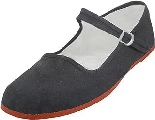 G4U-MJ Women's Mary Jane Cotton Shoes Ballerina Ballet Flat Slip on Slippers Multiple Colors
