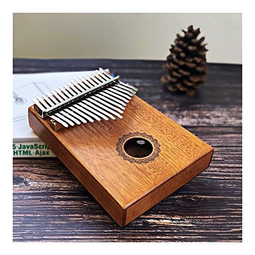 YNuo 17 Keys Kalimba Daumenklavier Made by Single Board hochwertiges Holz Mahagoni Korpus Musikinstrument (Color : Crown of Water)