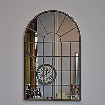 Antic by Casa Chic Cornice Solida Bianco Antico 46x86 cm Specchio A Finestra alla Francese