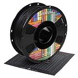 OVERTURE 3Dプリンター用 フィラメント素材 3Dプリンター PLA フィラメント 3D印刷フィラメント MATTE PLA 1.75mm 1kgスプール 寸法精度+/-0.05mm 高密度 環境保護 200mmx200mmの3Dビルドサーフェス付き ほとんどのFDMプリンターに適合 (マット ブラック)