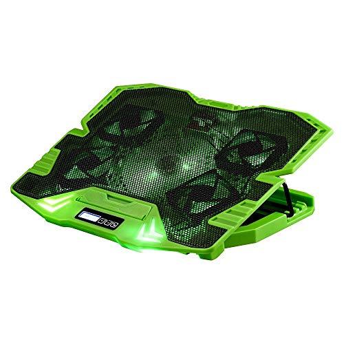 Master Cooler Gamer Verde Com Led Warrior, Suporte de Notebook - AC292, 30 x 37 cm