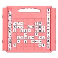 数独ゲームボード数独パズルボード親子プラスチック数独ボードキッズ学生インタラクティブデスクトップゲームおもちゃ(ピンク)