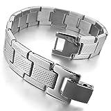 INBLUE Men's Stainless Steel Bracelet Link Silver Tone Gold Tone Greek