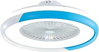 SMG Moderna Hélice Diseño Ventilador De Techo Con Un Práctico Mando A Distancia Inteligente Ventilador De Techo Con Luz LED Ajustable Velocidad Del Viento Y La Luz Del Motor Silencioso, 60 CM,Gris