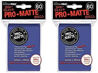 Ultra Pro Blue Small Pro-Matte Deck Protectors Sleeves Colors Yugioh Vanguard [2 Pack of 60] na