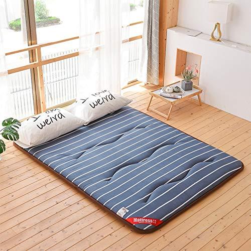 UYASDASFAFGS Verdikke slaapmat, opvouwbaar, draagbare tatami-mat, niet-slip, vloermatras, topper, matras, voor thuis en op de camping