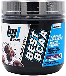 BPI Sports Best BCAA Peptide Linked Branched Chain Aminos, Grape, 600 Gram