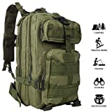 MINGPINHUIUS Tactical Backpack, Military Backpack 25L Army Rucksack MOLLE Assault Pack Tactical Combat
