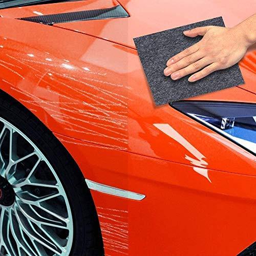 KRY [2er Pack] Nanomagisches Kratzerentfernungstuch für Car, Mehrzweck-Kratzerreparatur-Poliertuch, Autolack-Wirbelentferner, Ausbesserungslack-Restaurator für die Autopflege-Schönheitsoberflächenrep