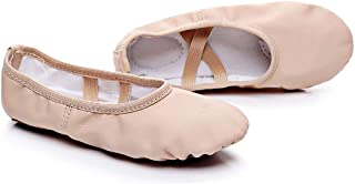 Conpush Girl Toddler Kid Leather Ballet Practice Shoes, Yoga Shoes, Dancing Shoes Ballet Shoes Toddler