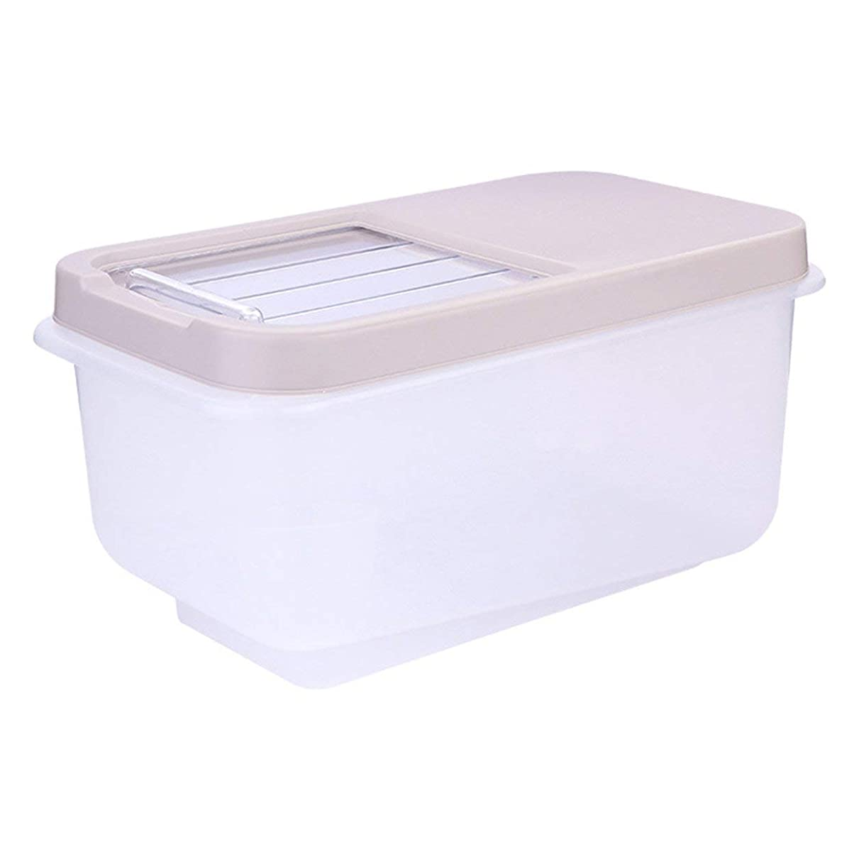 戻るいま資料Saikogoods 家庭の使用キッチンストレージオーガナイザーは 封印された食品のストレージを乾燥ボックス防湿ライスビン豆穀物コンテナオーガナイザー アプリコット