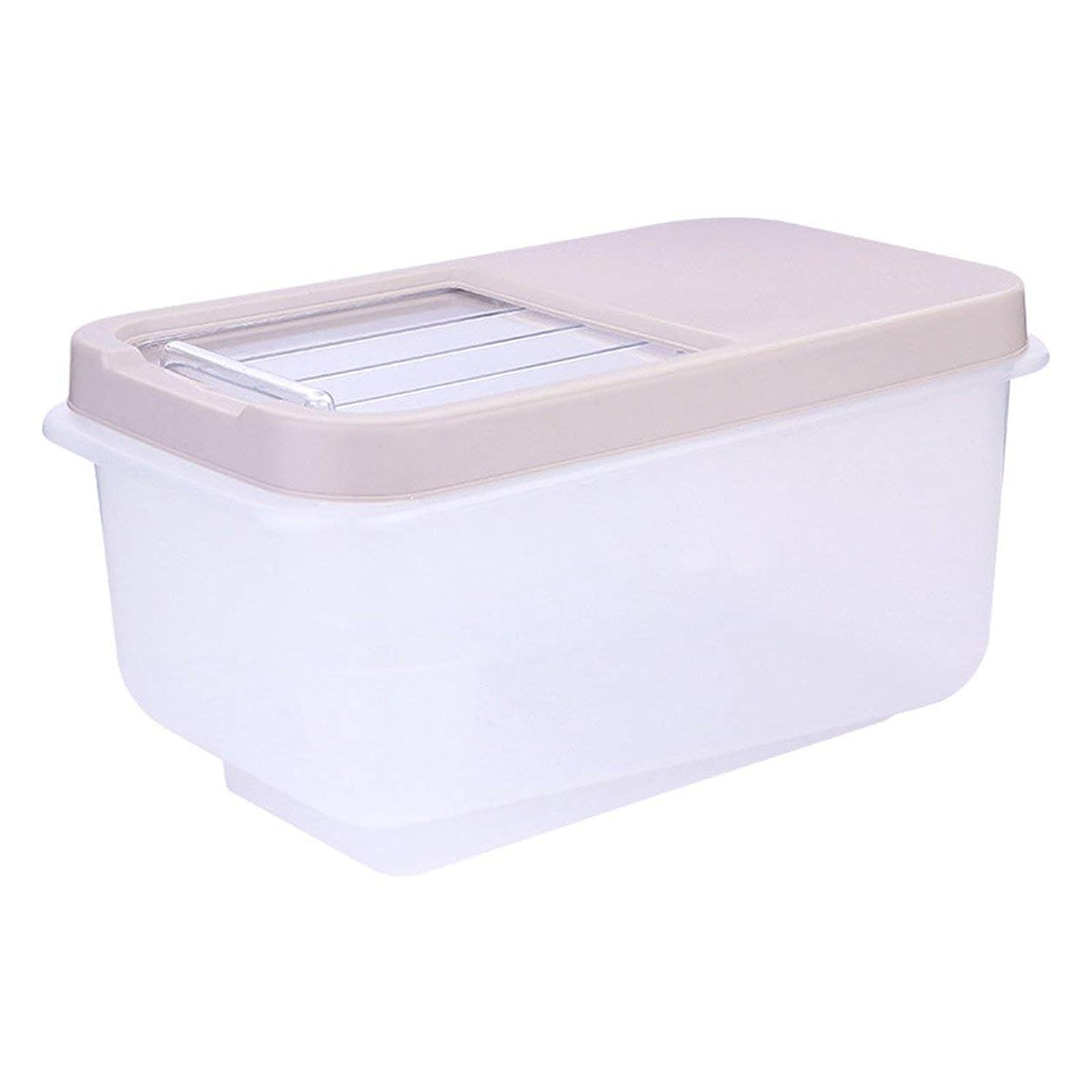 労苦再集計やむを得ないSaikogoods 家庭の使用キッチンストレージオーガナイザーは 封印された食品のストレージを乾燥ボックス防湿ライスビン豆穀物コンテナオーガナイザー アプリコット