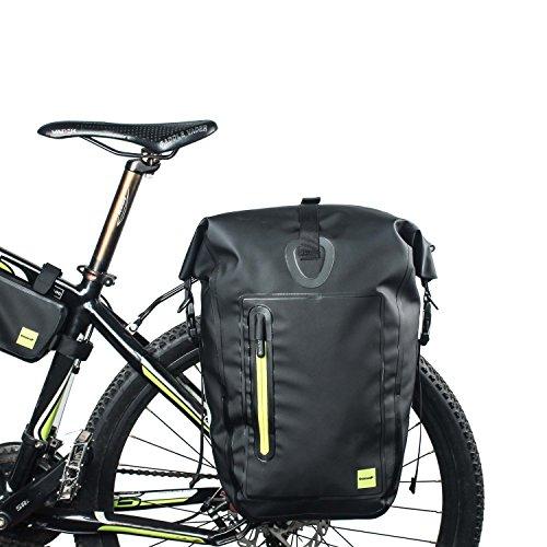 Rhinowalk Fahrradtasche Gepäckträgertaschen Back Single Hinterradtasche Völlig Wasserfeste Taschen, schwarz, 25L