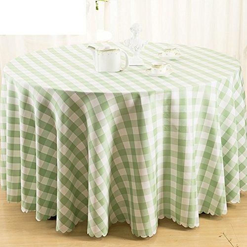 nclcxn Grand Rond Linge de table,Vichy Nappes Hôtels Restaurant Nappe Polyester-D 120x160cm(47x63inch)