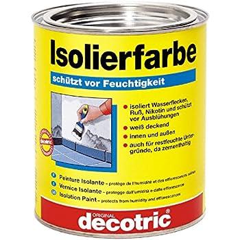 Pufas / Decotric Isolierfarbe - Schutz vor Ausblühung und Feuchtigkeit zementhaltig 750ml