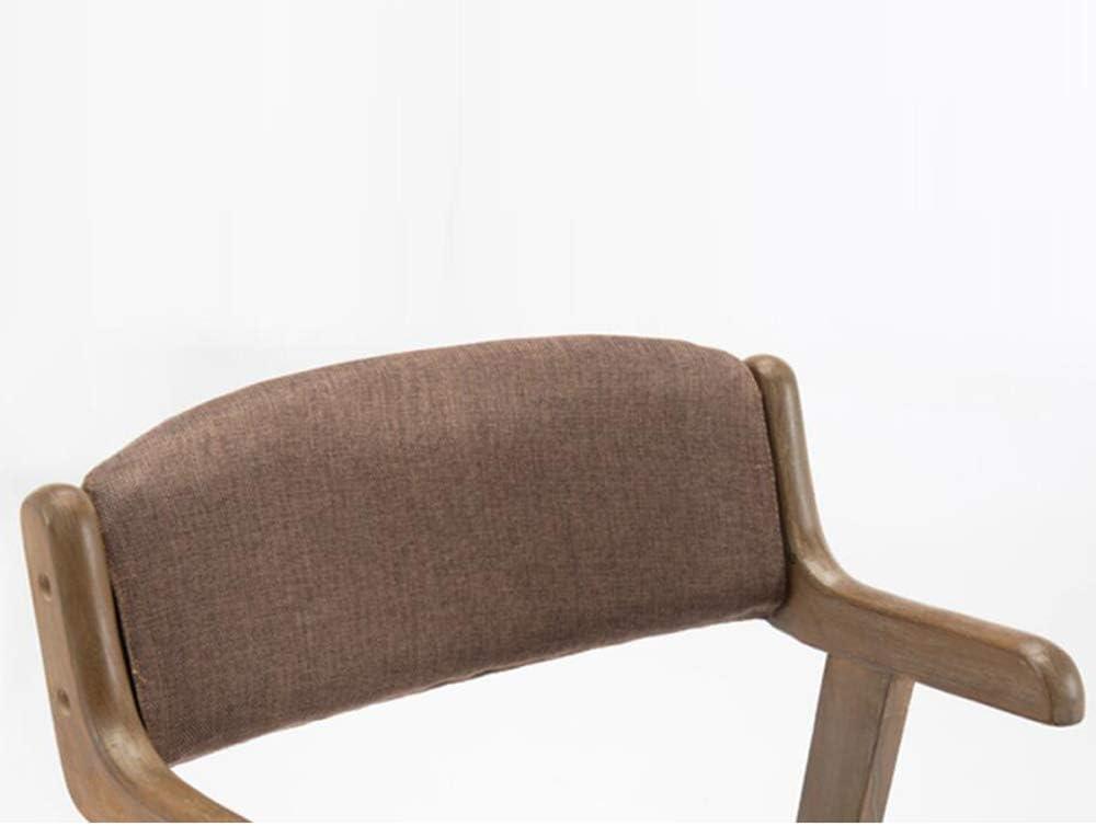 HURONG168 Chaises de cuisine Chaise de bureau en bois massif, minimaliste, moderne siège lounge (Couleur : 6) 5
