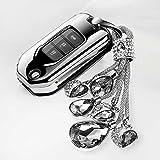 NASHDZ Funda Protectora para Llavero de Coche, Cobertura Completa, Bolsa de Entrada sin Llave, Control Remoto Inteligente, Aptopara Honda Civic CR-V HR-V Accord Jade Crider Odyssey 2015-2018