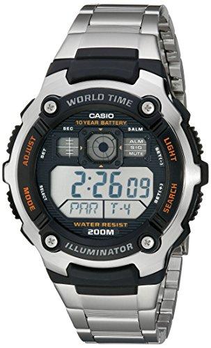 Casio AE2000WD-1AV Reloj deportivo de resina y acero inoxidable para hombre