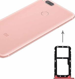 Piezas de Recambio de zócalo de Tarjeta Xiaomi Mi 5X / A1 Tarjeta SIM y SIM/TF Bandeja (Color : Red)