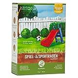 Plantura Spiel- & Sportrasen, 2 kg, strapazierfähiger Rasen für Kinder & Haustiere,...
