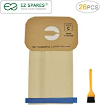 EZ SPARES 26Pcs Replacements Paper Bag,for Electrolux Canister Style C Vacuum Cleaner Bags,Paper Dust Bag, More Environmentally Friendly
