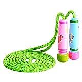 Cuerda para Saltar con mango de madera colorido para niños Cuerda de salto ajustable de 102 pulgadas para fitness y pérdida de grasa