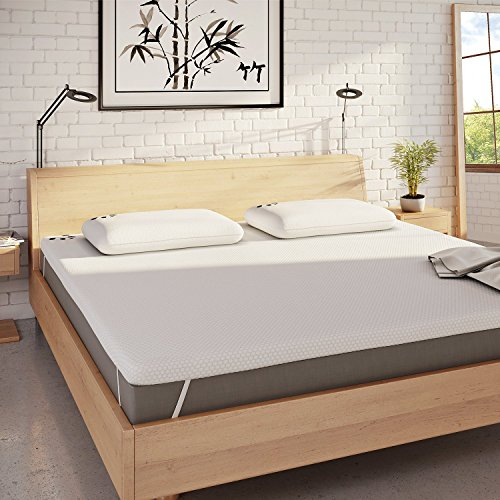Panda The Topper Gel Infused Memory Foam (Hydro-Foam) Bamboo Mattress Topper (UK Double: 190 x 135 cm)