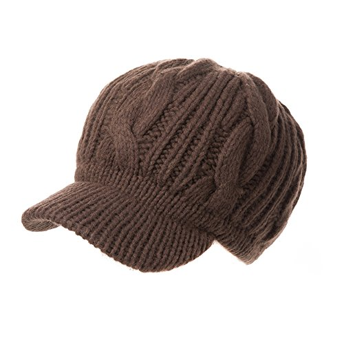 Gorra de punto Siggi 100% lana de merino, con visera, para mujeres, Mujer, color...