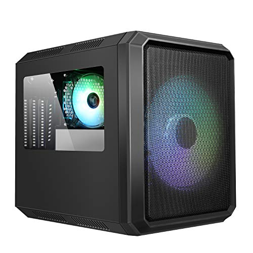 Itek Case QBO 8 Evo - Micro ATX, USB3, 200+120mm ARGB Fan, Card Reader, 3X Trasp Window