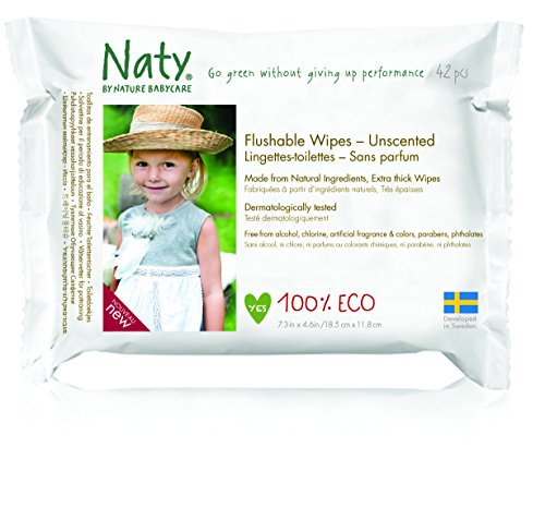 Naty Eco-Sensitive Toddler Wipes - Resealable Top - 42 ct