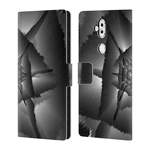 Head Case Designs Oficial Haroulita Oscuridad Resumen Glitch 3 Carcasa de Cuero Tipo Libro Compatible con ASUS Zenfone 5 Lite ZC600KL