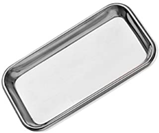 304 Stainless Steel Flat Lab Instrument Tray Dental Medical Body Piercing Serving Dish