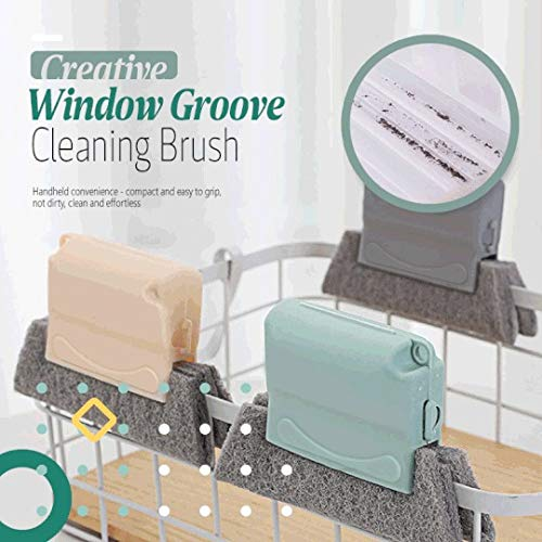 3Pcs Magic Window Cleaning Brush - Creative Window Groove Cleaning Brush With Removable Buckle Design, Easy to Grip And Cleaning, Compact Kitchen Gadgets for Window Blinds, Gaps, Car Vents