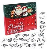 tonguk Calendario de Adviento, Calendario de Cuenta Regresiva de Navidad 2020, Rompecabezas de Alambre de Metal, Calendario de adviento, Caja de Regalo, Juego de Juguete para niños