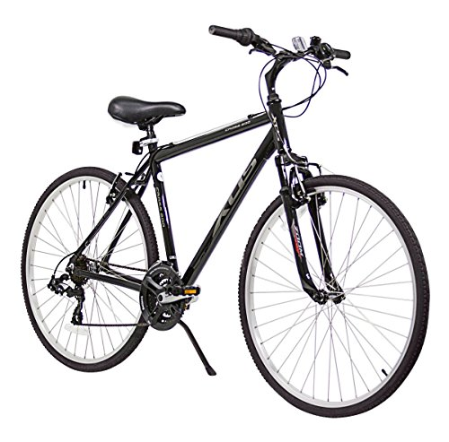 XDS Men's Cross 200 21-Speed Hybrid Bicycle, 52cm, Jet Black