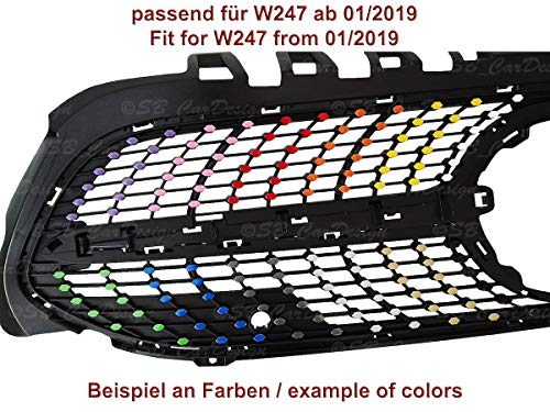 SB CarDesign Diamantgrill Folien Sticker für Mercedes B-Klasse W247 AMG Grillaufkleber (Mattschwarz)