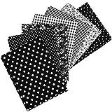 7 x Patchwork Stoffe aus Baumwolle, 50 x 50 cm,