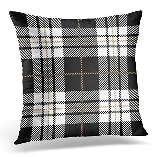 Funda de almohada abstracta de cuadros escoceses a cuadros escoceses, diseño a cuadros, decoración del hogar, cuadrada, 45,7 x 45,7 cm