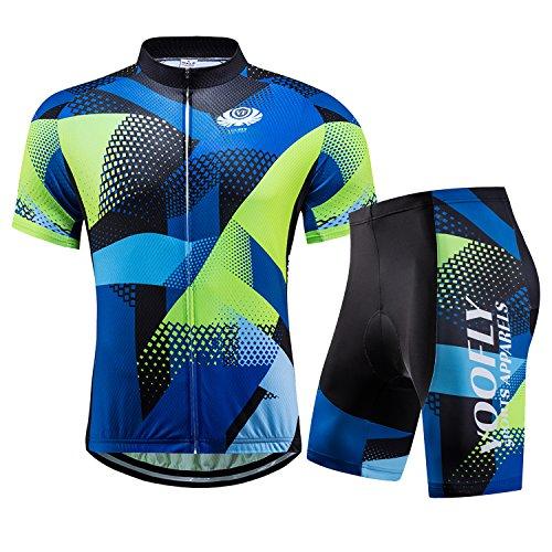 Cycling Shorts Jersey Men Short Sleeve Bike Shirts Full Zip Pocket Road Riding Bicycle Wear X-Large