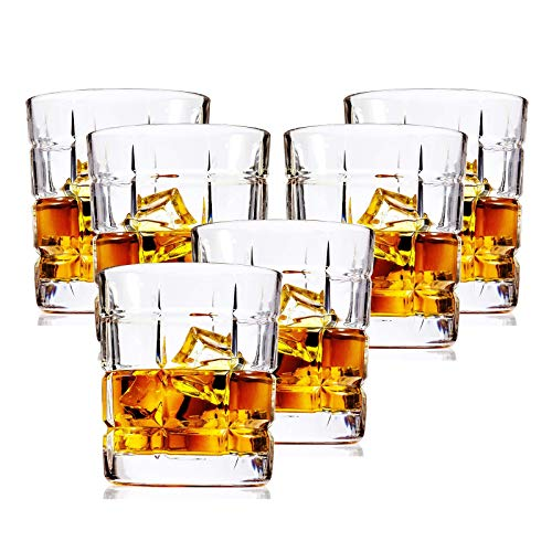 Vaso De Whisky De Juego 6pcs, Cristal De Wiskey, 300 Ml Copa Vino Whiskey Brandy, Vidrio Coctel Cocktail Personalizado, Conac...