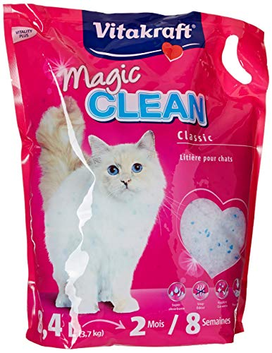 Vitakraft - Litière Magic Clean 8 Semaines pour chat - 8,4L