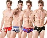 Pink Hero Herren Slips Retroshorts Herren Shorts Marvel Heroes unterwäsche Superman Boxershorts Herren