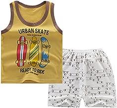 JanLEEsi Baby Vest and Shorts Set Infant Summer Clothing Set Tank Tops