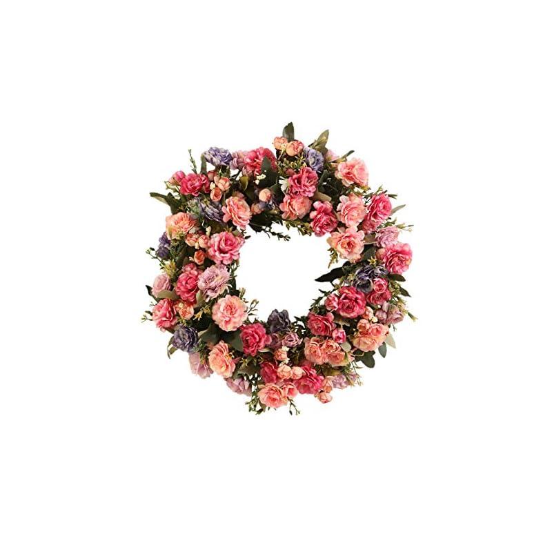 silk flower arrangements yeenee door wreath, all seasons floral wreath, for front door living room wall garden wedding festival decor