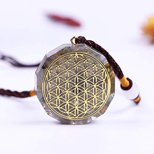 NIUBKLAS Life Spirit Customization Aura Colgante Collar cumpleaños Collar Amuleto para Hombres y Mujeres joyería Regalo Wicca