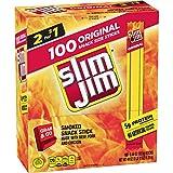 Slim Jim Snack Sized Smoked Meat Stick Pantry Pack Original Keto Friendly .44 Oz Pack of 100
