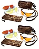 Ducks Unlimited PYRAMEX Shooting Safety Glasses with 5 Interchangeable Lens/CASE (2 Pair Pack)