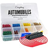 Mini Fuse Kit 12v Inline Automotive Fuse Holders 14AWG - Plus 120 Assorted ATM/APM Fuses - Includes Fuse Puller Tool. 5, 7.5, 10, 15, 20, 25 and 30 Amp Fuses.